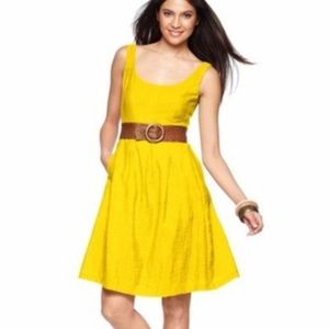 Canary yellow dress from Nine West